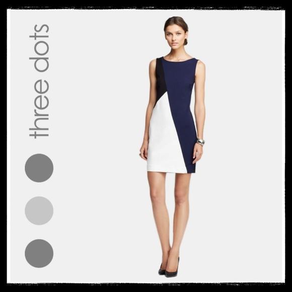 28bd146151f THREE DOTS Color-Block Shift Dress Boutique
